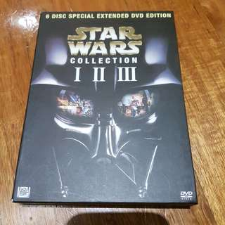 Star wars 1,2,3,4,5 and 6. Collectors edition.