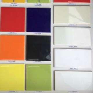 White subway tiles - 1 Box (75x150mm)