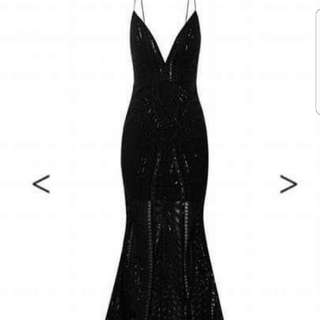 Size 6 Sheike Black Lace dress