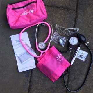 Nursing stethoscope kit & lab coat