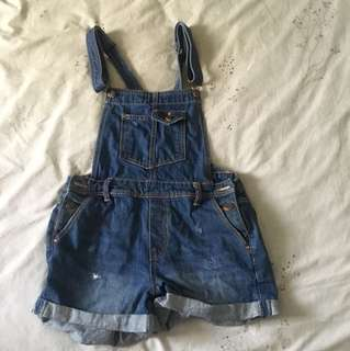 Bershka demin overalls