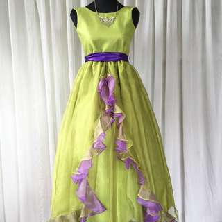 Lime Green Ball Gown for Kids