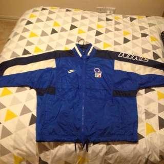 Retro Nike Italia Jacket - Blue and White