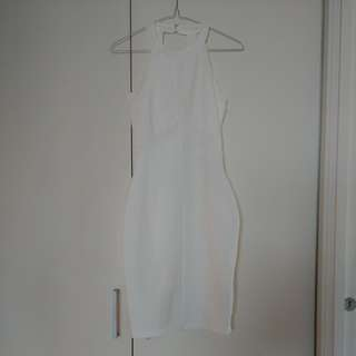 New Miss Selfridge Halter Bodycon White Dress S