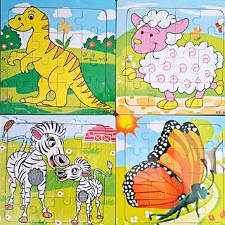 Wooden Jigsaw Puzzle for Kids Birthday Goodie Bags/Christmas/Children's Day
