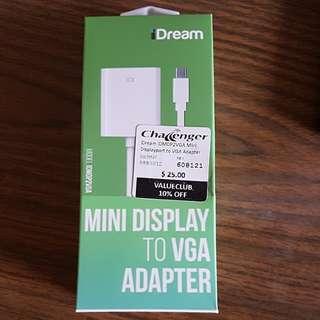 Mini display to vga adapter