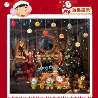 [Pre Christmas Sale] 1pc $10, 2pcs for $18! Christmas Decals For Home/Shop Windows