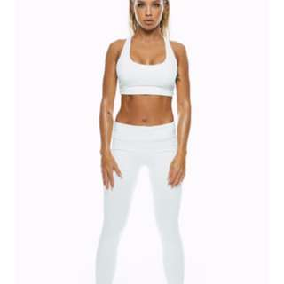 BNWT Saski Collection MID WAIST tights in XS white