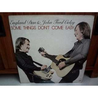 England Dan & John Ford Coley Some Things Don't Come Easy Vinyl Record LP