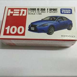 Tomica Tomy #100 Lexus IS 350 F Sport 未開盒
