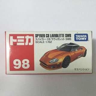 Tomy Tomica #98 Spyker C8 Laviolette SWB 未開盒