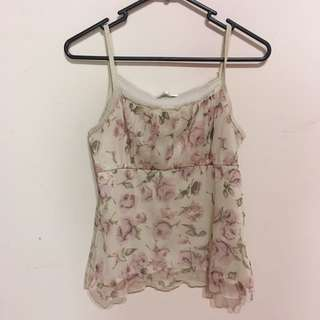 Vintage rose top - rustic