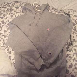 Grey champion reverse weave hoodie