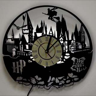 Harry Potter Vinyl Record Wall Clock Lamp