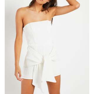 NEW* white ribbed playsuit