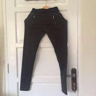GIORDANO Grey Legging with Zippers