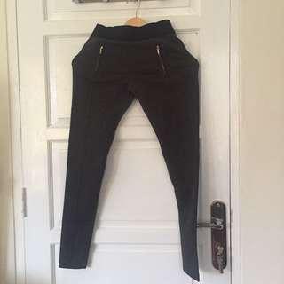 GIORDANO Grey Legging with Zippers