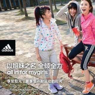 adidas 路跑 訓練 糖果 點點 風衣 外套