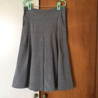 (BN) Grey Pleated Culottes