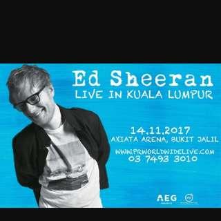Ed Sheeran Tickets [KL] (free standing)