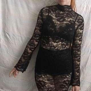 ⚡️ Black lace midi dress ⚡️
