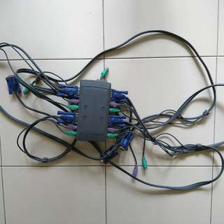 Aten KVM Vga ps2 support 4 PC cables