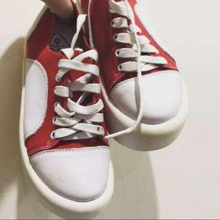 [孬便宜]瑕疵低價出清同Tokyo bopper厚底大頭帆布鞋 原價599 因瑕疵出清低價出售 僅一號22號