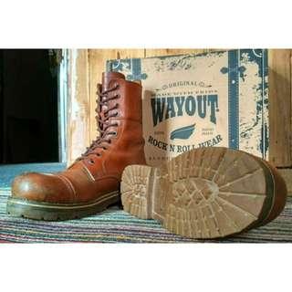 Sepatu Boots WAYOUT ROCK N ROLL Size 41 (Original)