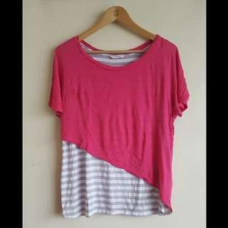 Striped Pink Iora Blouse (L)