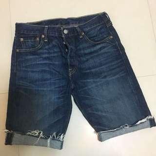 僅下水Levi's 牛仔五分褲 501
