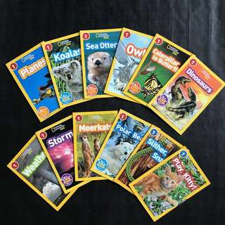 💥 NEW - National Geographic Kids Level 1 - Set of 12
