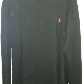 Ralph Lauren black long sleve top