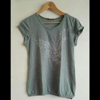 Green Dorothy Perkins Eagle Shirt (14)