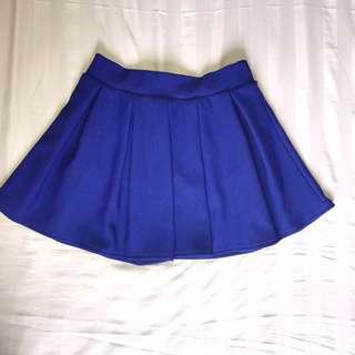 Pleated Blue Skort