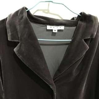 [孬便宜]絨布專櫃質感古著外套