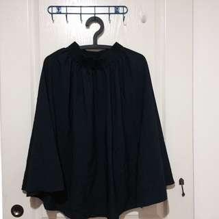 便宜好穿的深藍A字裙