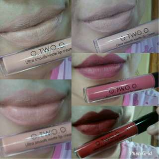 O.TWO.O ULTRA SMOOTH MATTE LIP CREAM