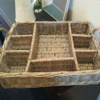 Rustic basket with dividers