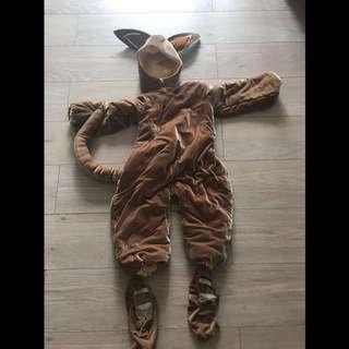 Kangaroo costume 袋鼠扮演 100cm-110cm 小孩