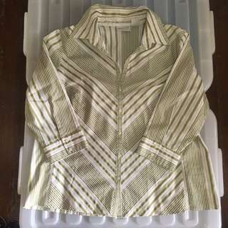 Plus size office blouse/top size 1X