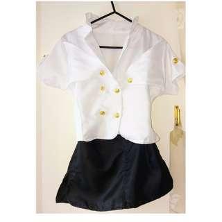 女學生制服/黑白(主題制服裝)