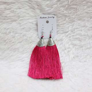 Tassle Earrings (Pink)