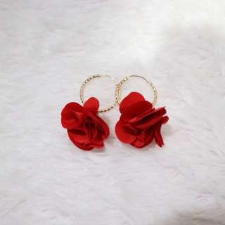 Rose Round Earrings