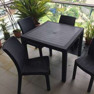 Keter Outdoor Table and Chairs Set