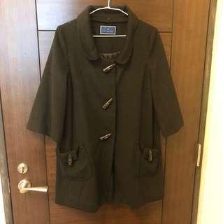 ✨全新✨日牌THE EMPORIUM黑色薄款大衣