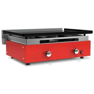 Fiery red Verycook brand plancha grill BBQ made in France, enamelled steel + 12.7kg gas bottle!
