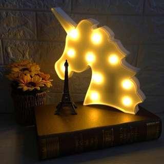 LED unicorn lamp