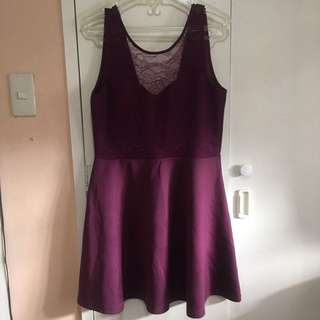 Purple cocktail dress US Size 14