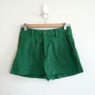 澳洲古著綠色短褲