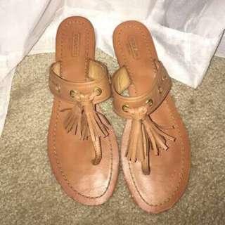 Coach Sheena Tassel Sandals size 37